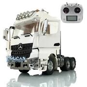 1/14 Metal 66 Lesu Tractor Truck Rc Chassis Light Radio Hercules Actros Cabin