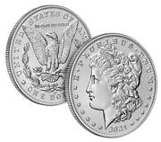 2021 Morgan Silver Dollars Confirmed Cc And O Privy Mark, 2 Coins In Total