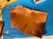 9 Lb Cut, Roofing Scrap, Solid Copper Sheets 23/25 Gauge Craft Jewelry Lures