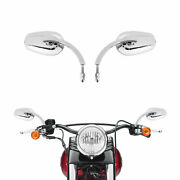 Chrome Motorcycle Rearview Side Mirrors Fit For Harley Sportster Road King 8mm