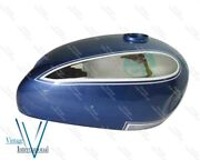 For Ariel Square Four 1000cc Chrome And Blue Painted Fuel Petrol Gas Tank New