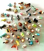Dollhouse Miniature Ceramic Animals Figurines Hand Painted Collectibles 54 Pcs.