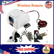 12v Boat White Electric Anchor Winch With Wireless Remote Marine Saltwater 45lbs