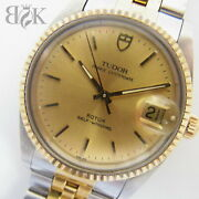 Tudor Oyster Date 74033 Combi Self-winding Working Product Ec From Japan