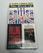 The Best Of British Invasion Rolling Stones And The Beetles Vhs Tapes - New - 1991