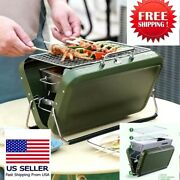 Portable Mini Bbq Grill Foldable Handy Size Smart Bbq Charcoal For 1-3 Person