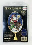 Dimensions Petites Santa With Friends Ornament Gold Collection Cross Stitch