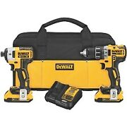 Dewalt 20v Max Xr Li-ion Brushless Compact Drill/driver And Impact Driver Combo