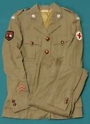 Named Ww2 Canadian Womenand039s Red Cross Transport Uniform