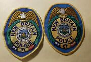 New Britain Ct Police Department Patches - Set Of 2