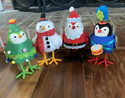 New Set 4 Wondershop 2021 Target Fabric Birds Christmas Holiday--new With Tags