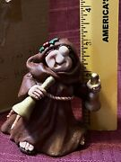 Friar Folk By Abby Press...monk Brown Robe Ringing Bells...new In Box