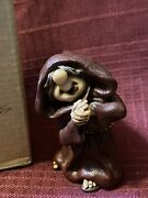 Friar Folk By Abby Press...monk Dk Red Robe Holding His Hands...new In Box