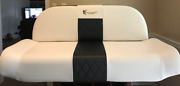 Boat Bench Seat Oem Quality White / Black Fishmaster Repair Replacement