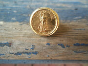1986 Lady Liberty America Eagle 22k 5 Coin Bullion 14k Gold Ring 9 Made In Usa