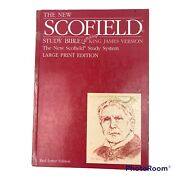 """The New Scofield Study Bible. King James Large Print """"red Letter"""" Hardcover Vtg"""