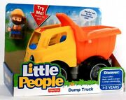 Fisher-price Little People Dump Truck Discover Cause And Effect Age 1 To 5 Years