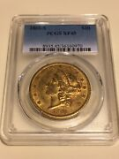 1861-s Xf45 Pcgs Liberty Double Eagle 20 Gold Coin Nicely Struck Rarer Date