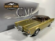 Pre-order 118 1970 Lincoln Continental Mark Iii Gold W/black Roof By Cmf Models