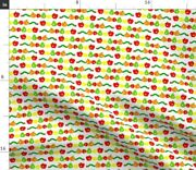 Classic Children Book Caterpillar Fruit Hungry Spoonflower Fabric By The Yard