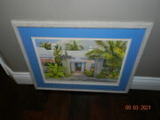 Mary Powell Watercolor Print Cambridge Beach Somerset Bermuda Framed Matted 1985