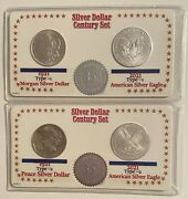 2021 35th Anniversary Silver Eagles And Morgan And Peace Dollar Century Set 5975