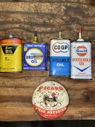 1950s 60s Gulf Household Oil 4oz Oil Can Handy Oiler Uncommon Coop Collection