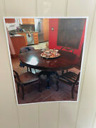 Antique Dining Room Table And 8 Chairs And Other Furniture