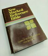 Vintage New Marked Reference Bible Zondervan Bible Publishers, Hc 1975