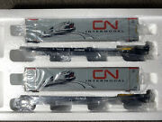 Mth Canadian National 2 Car Spine Set 48' Containers Husky Stack. Our U340
