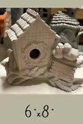 Feed The Birds Winter Birdhouse Ceramic Bisque Ready To Paint