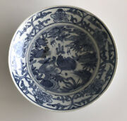Chinese Late Ming Dynasty Wanli 17th Century Plate Rooster Motif