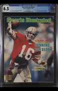 Sports Illustrated Newsstand 1982 Joe Montana Cgc 6.5 First Rookie Cover