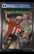 Sports Illustrated Newsstand 1982 Joe Montana Cgc 8.0 First Rookie Cover