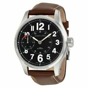 Hamilton Khaki Field Mecha Officer Black Dial Brown Leather Automatic Menand039s