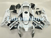 Fairing Set Fit For White Black 2003-2004 Cbr 600rr 03-04 F5 Injection Ade