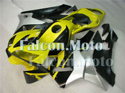 Yellow Black Silver Abs Injection Bodywork Fairing Kit Fit For Cbr600rr 03 04 F5