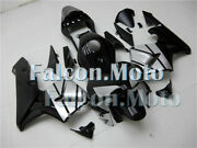 Complete Black Silver Injection Fairing Fit For 03-04 Cbr 600rr 2003 2004 F5 Jfg