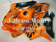 Black Orange Injection Abs Fairing Kit Fit For 03-04 Cbr 600 Rr 2003 2004 F5 Act