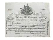 1924 Hudson Oil Company Stock Certificate 34173 Issued To Winfield Gillespie