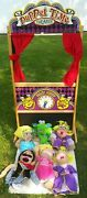 Melissa And Doug Puppet Time Theater W/ 6 Puppets - 3yrs+ - Wooden