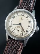 Omega Wwii Cal. R17.8 Rare Mens Vintage Military 1940s Watch Ref. 2144