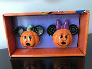 Disney Mickey Mouse And Minnie Mouse Pumpkin Salt And Pepper Shakers Brand New