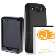 7500mah Extended Battery Cover Dock Charger For Samsung Galaxy S3 Sgh-i747 I9300
