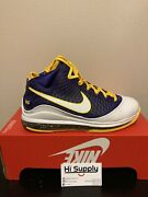 Nike Lebron Vii 7 Gs Qs Media Day Lakers Da3203-500 New Menand039s Size 6y No Lid