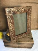 Vintage Leather Picture Frame With Gilt Design Theodore B. Starr, Inc. France,