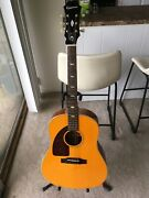 Left Handed Epiphone Insp By 1964 Texan Ft-79 Ft79 Acoustic Guitar With Case