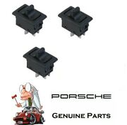 For Porsche 911 912 73-89 Pair Set Of 2 Left And 1 Right Window Switchs Genuine