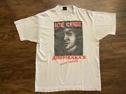 Vintage Ice Cube Amerikkkaandrsquos Most Wanted T-shirt 90andrsquos Original Rap Tee Tagged Xl