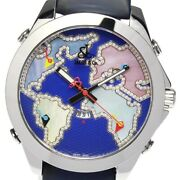 Jacobandco 5 Time Zone Navy / Shell Dial Quartz Menand039s Watch_634707